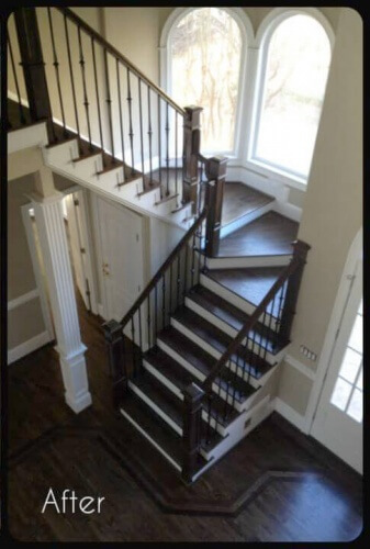Hardwood Flooring - Stairs Refinished