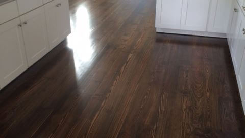 Hardwood Flooring - Pine Kitchen Refinish
